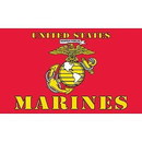 Eagle Emblems F1680 Flag-Usmc Ii (3Ftx5Ft)   Made In Usa .