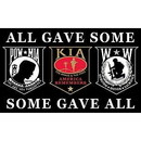 Eagle Emblems F1851 Flag-Pow/Kia/Ww (3Ftx5Ft)
