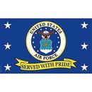 Eagle Emblems F1868 Flag-Usaf, Served W/Pride (3Ftx5Ft) .