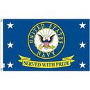 Eagle Emblems F1871 Flag-Usn, Served W/Pride (3Ftx5Ft) .
