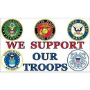 Eagle Emblems F1883 Flag-Support Our Troops (3Ftx5Ft)     All Bos .