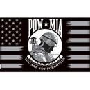 Eagle Emblems F1937 Flag-Pow*Mia, Red/Wht (3Ftx5Ft)