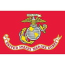 Eagle Emblems F2305 Flag-Usmc   Poly-Cotton (2Ftx3Ft)   Made In Usa .