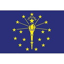 Eagle Emblems F2515 Flag-Indiana (2Ftx3Ft) .