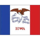Eagle Emblems F2516 Flag-Iowa (2Ftx3Ft) .