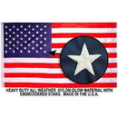 Eagle Emblems F3135-05 Flag-Usa Nyl-Glo, Embroid. (03Ftx05Ft)  Made In Usa