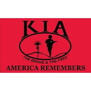 Eagle Emblems F3142-05 Flag-Kia Honor, Nyl-Glo (3Ftx5Ft)   Made In Usa