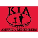 Eagle Emblems F3142-06 Flag-Kia Honor, Nyl-Glo (4Ftx6Ft)   Made In Usa
