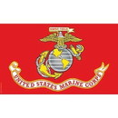 Eagle Emblems F3205-03 Flag-Usmc Nyl-Glo (2Ftx3Ft)   Made In Usa