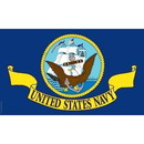 Eagle Emblems F3206-05 Flag-Usn Nyl-Glo (3Ftx5Ft)   Made In Usa