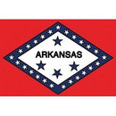 Eagle Emblems F6504 Flag-Arkansas (4In X 6In) .