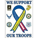 Eagle Emblems F9011 Banner-Support The Troops (29
