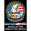 Eagle Emblems F9012 Banner-American Warriors (29