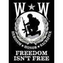 Eagle Emblems F9014 Banner-Wounded Warrior (29