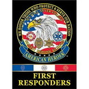Eagle Emblems F9033 Banner-American Heroes Thin Red/White/Blue Line (29
