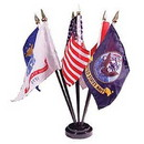 Eagle Emblems F9816 Flag Stand, Black, 6-Flag (Fits 4In X 6In)