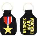 Eagle Emblems KC0040 Key Ring-Bronze Star Embr. (1-3/4