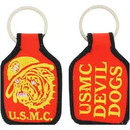 Eagle Emblems KC0157 Key Ring-Usmc, Bulldog Embr. (1-3/4