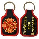 Eagle Emblems KC0172 Key Ring-Fire Dept.Logo Embr. (1-3/4