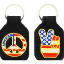 Eagle Emblems KC0175 Key Ring-Peace Sign Embr. (1-3/4