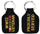 Eagle Emblems KC0182 Key Ring-Wwii Veteran Embr. (1-3/4