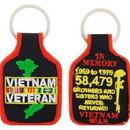 Eagle Emblems KC0187 Key Ring-Vietnam Memoriam Embr. (1-3/4