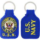 Eagle Emblems KC0195 Key Ring-Usn Logo Embr. (1-3/4