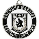 Eagle Emblems KC2001 Key Ring-Wounded Warrior Zinc-Pwt (1-1/2