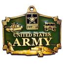 Eagle Emblems KC2003 Key Ring-Army Action Zinc-Pwt (1-1/2