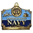 Eagle Emblems KC2005 Key Ring-Usn Action Zinc-Pwt (1-1/2