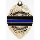 Eagle Emblems KC2008 Key Ring-Police, Blue Line Zinc-Pwt (1-1/2