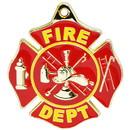 Eagle Emblems KC2010 Key Ring-Fire Dept.Logo Zinc-Pwt (1-1/2