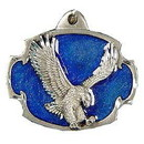 Eagle Emblems KC2013 Key Ring-Eagle Landing Zinc-Pwt (1-1/2