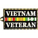 Eagle Emblems KC2018 Key Ring-Vietnam Veteran Zinc-Pwt (1-1/2