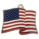 Eagle Emblems KC2021 Key Ring-Usa Flag, Wavy Zinc-Pwt (1-5/8