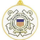 Eagle Emblems KC2038 Key Ring-Uscg Logo Zinc-Pwt (1-1/2