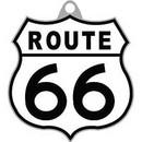 Eagle Emblems KC2048 Key Ring-Route 66 Zinc-Pwt (1-1/2