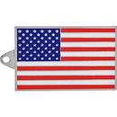 Eagle Emblems KC2073 Key Ring-Usa Flag Zinc-Pwt (1-9/16