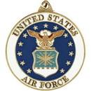 Eagle Emblems KC2076 Key Ring-Usaf Emblem Zinc-Pwt (1-1/2