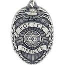 Eagle Emblems KC2153 Key Ring-Police Badge Zinc-Pwt (1-1/2