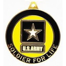 Eagle Emblems KC2156 Key Ring-Army, Sold.4 Life Zinc-Pwt (1-1/2