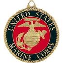 Eagle Emblems KC2158 Key Ring-Usmc Logo Zinc-Pwt (1-1/2
