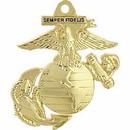 Eagle Emblems KC2530 Key Ring-Usmc Logo Zinc-Pwt (1-1/2