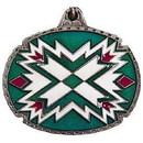 Eagle Emblems KC2540 Key Ring-Natv, Zuni Art Zinc-Pwt (1-1/2