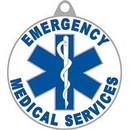 Eagle Emblems KC2547 Key Ring-Ems, Logo, Rnd Zinc-Pwt (1-1/2