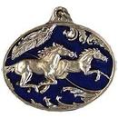 Eagle Emblems KC2553 Key Ring-Horses Running Zinc-Pwt (1-1/2