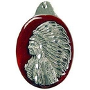 Eagle Emblems KC2564 Key Ring-Natv, Indian Zinc-Pwt (1-1/2