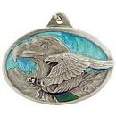 Eagle Emblems KC2599 Key Ring-Eagle Zinc-Pwt (1-1/2