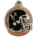 Eagle Emblems KC5001 Key Ring-Nfl, Atlanta Falc Zinc-Pwt (1-1/2