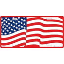 Eagle Emblems LP0528 Lic-Usa Flag, Wavy (6
